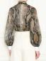 Блуза свободного кроя с узором MSGM  –  МодельВерхНиз1