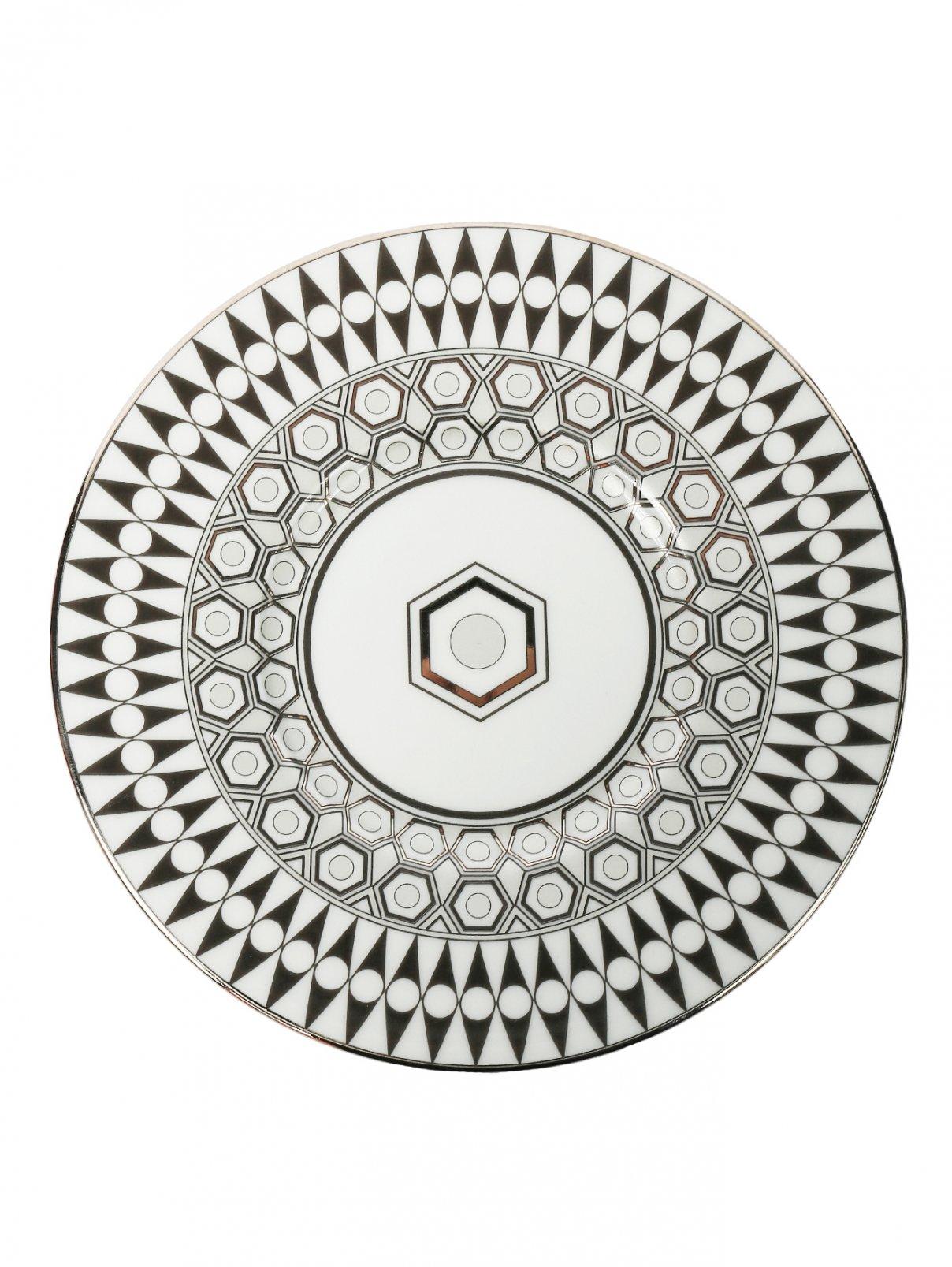 Тарелка хлебная из фарфора с геометрическим орнаментом Haviland  –  Общий вид