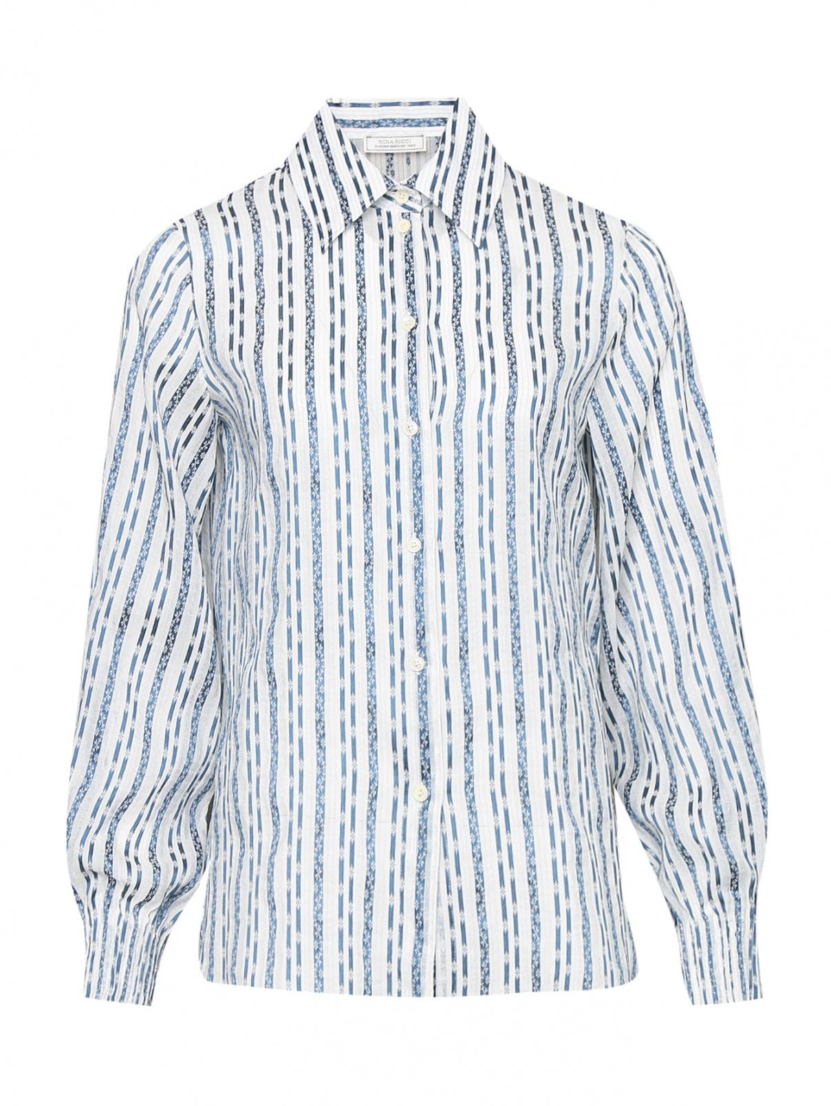 Блуза из шелка с узором Nina Ricci  –  Общий вид