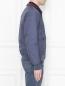 Бомбер из хлопка с накладными карманами Brooks Brothers  –  МодельВерхНиз2