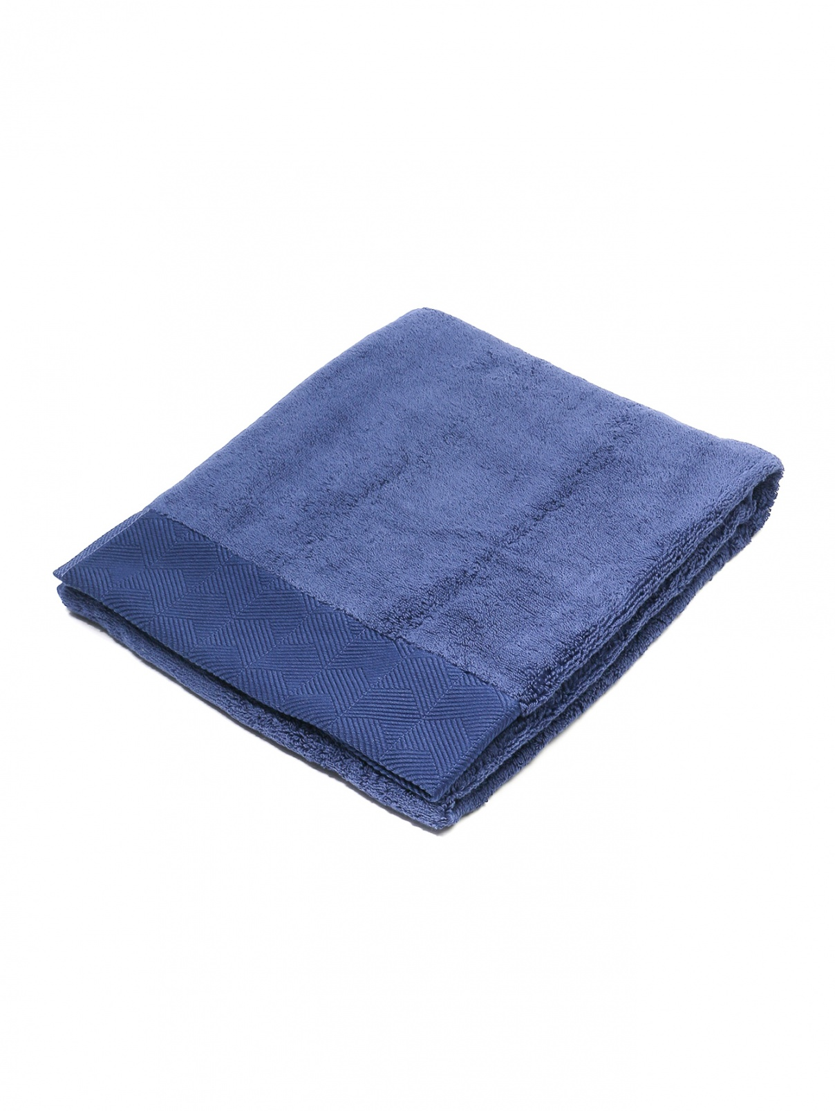 Полотенце из хлопковой махровой ткани с фактурным кантом 60 x 110 Frette  –  Общий вид