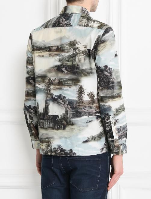 Рубашка из хлопка с узором - МодельВерхНиз1