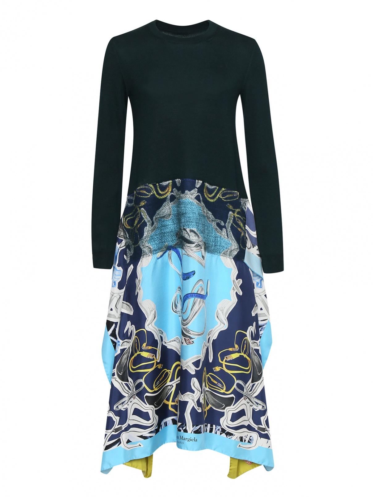 Платье комбинированное свободного кроя Maison Martin Margiela  –  Общий вид