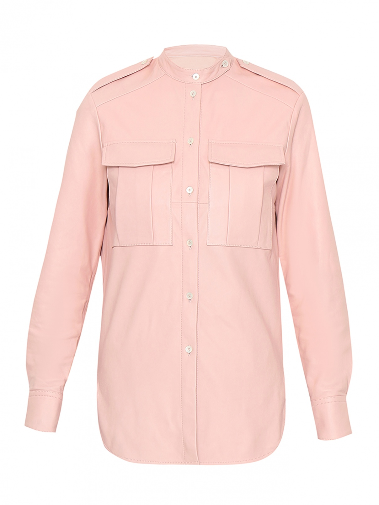 Рубашка из кожи с накладными карманами Paul Smith  –  Общий вид