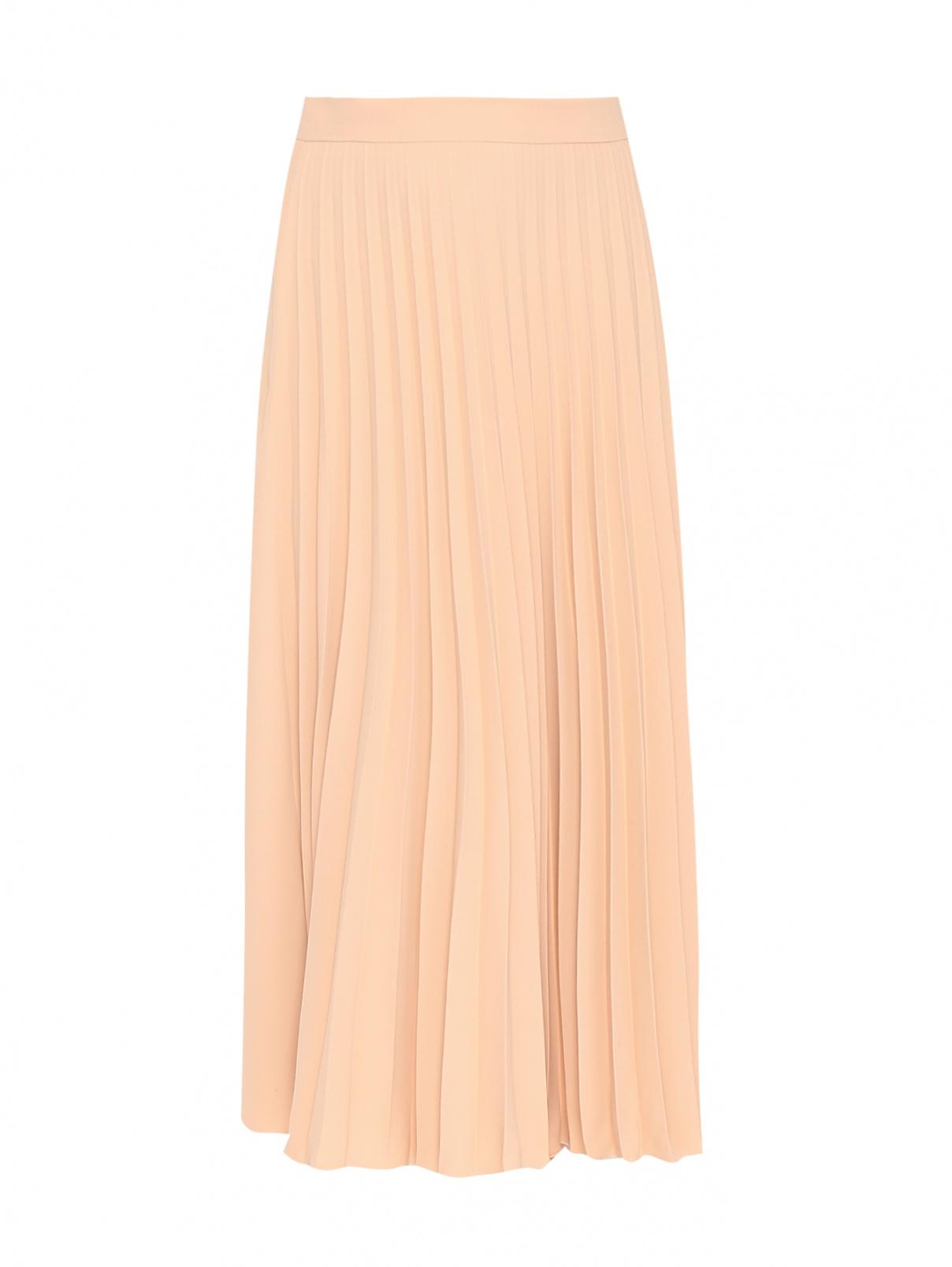 Плиссированная юбка-миди однотонная MM6  –  Общий вид