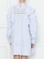 Платье свободного кроя с воланами из хлопка Isabel Marant  –  МодельВерхНиз1