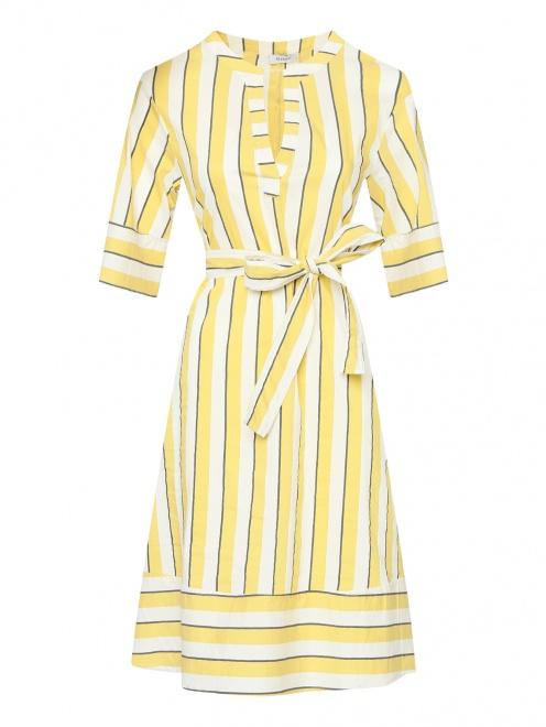 41331249d9fc3ab -50% Платье из хлопка в полоску Max&Co - Общий вид ...