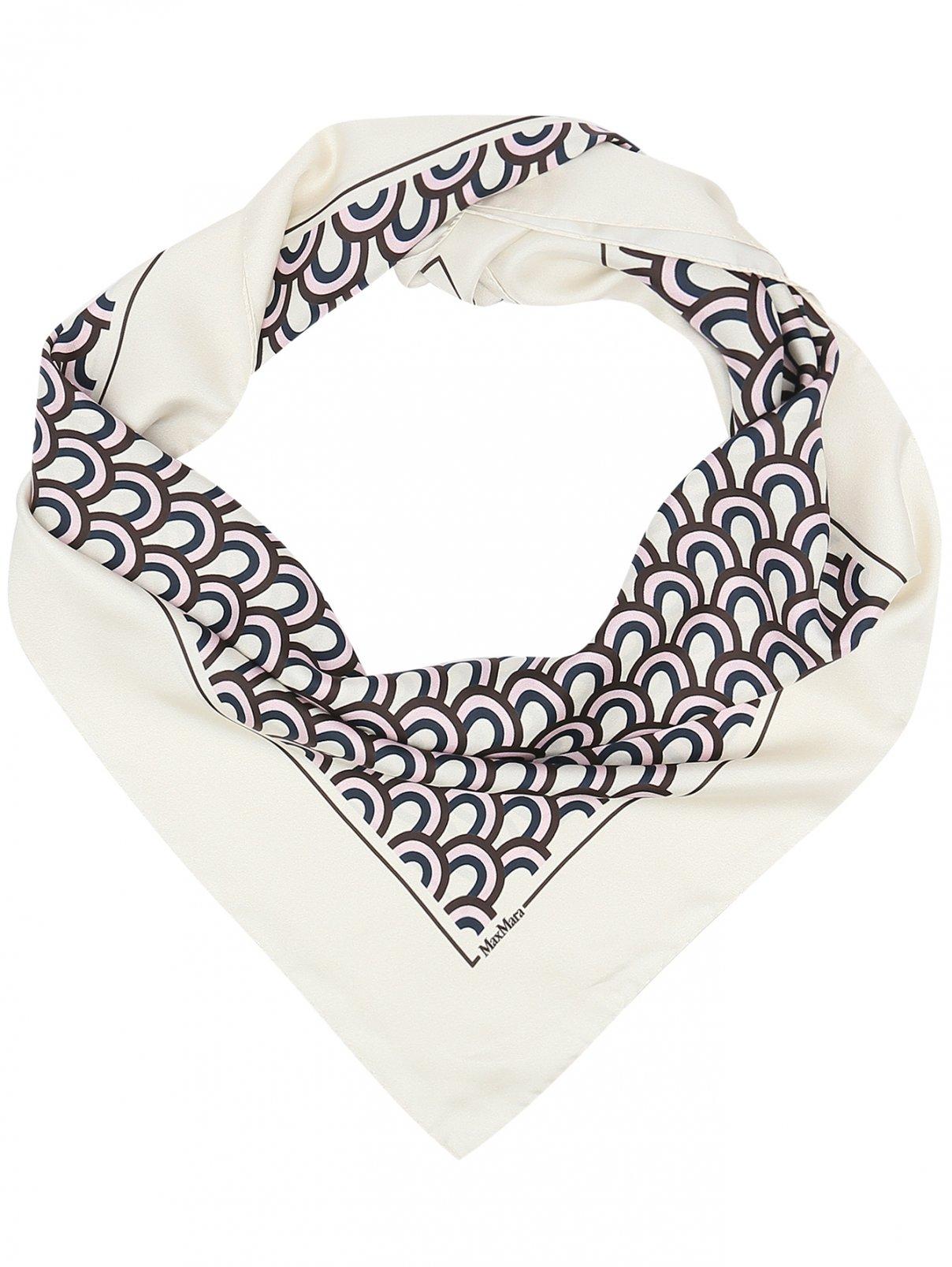 Платок из шелка с узором Max Mara  –  Общий вид
