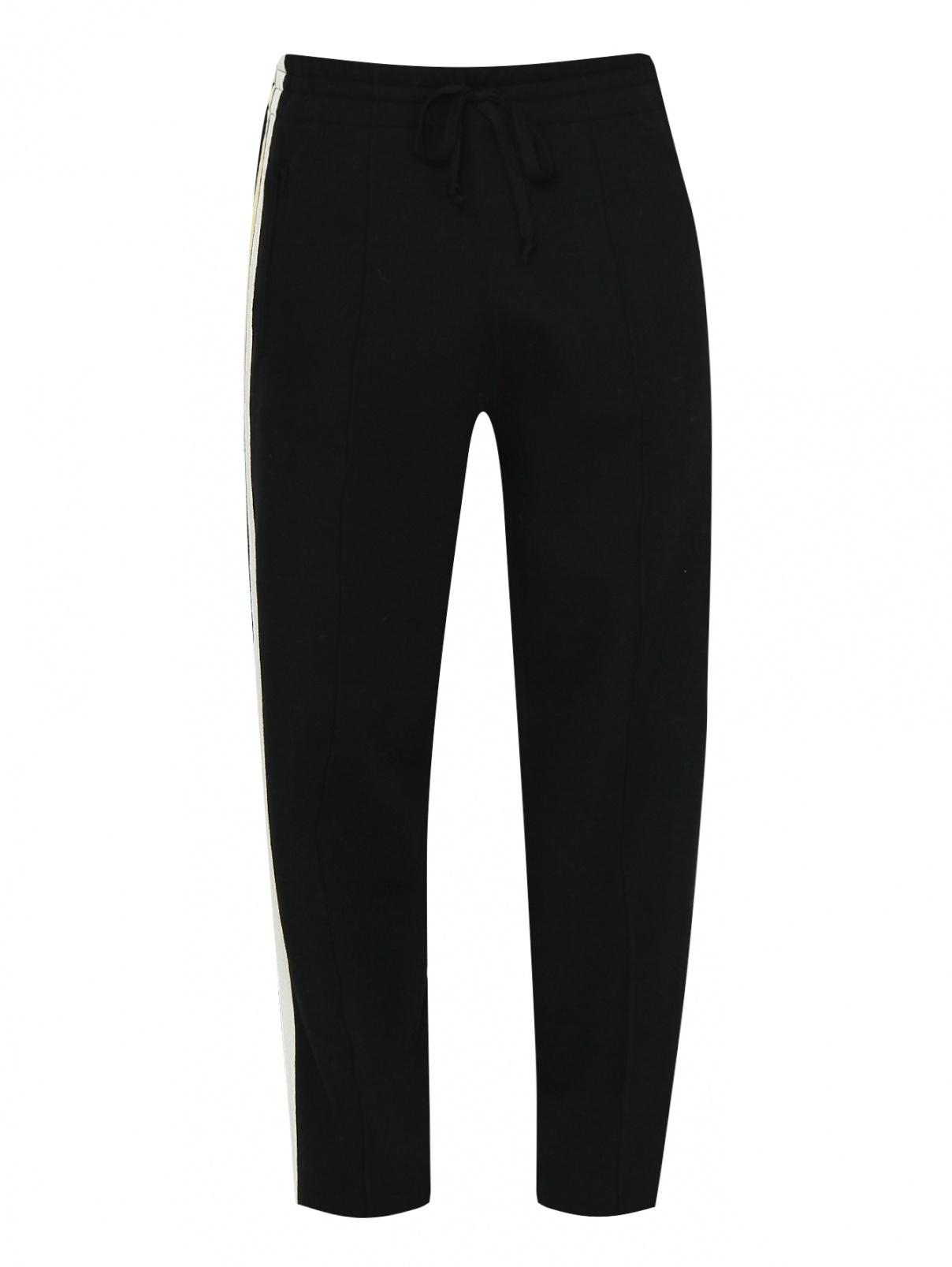 Трикотажные брюки на резинке с контрастной отделкой Isabel Marant  –  Общий вид