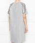 Платье трикотажное с люрексом и пайетками Persona by Marina Rinaldi  –  МодельВерхНиз1