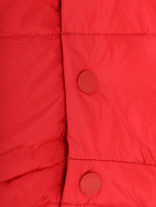 Куртка стеганая с капюшоном  - Деталь