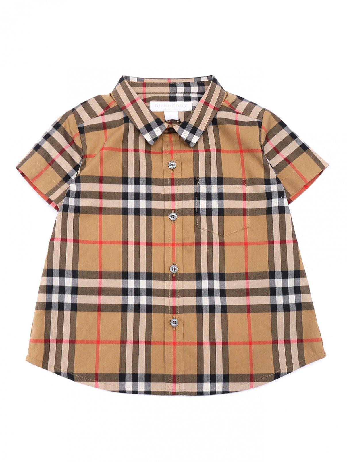 Рубашка из хлопка в клетку Burberry  –  Общий вид