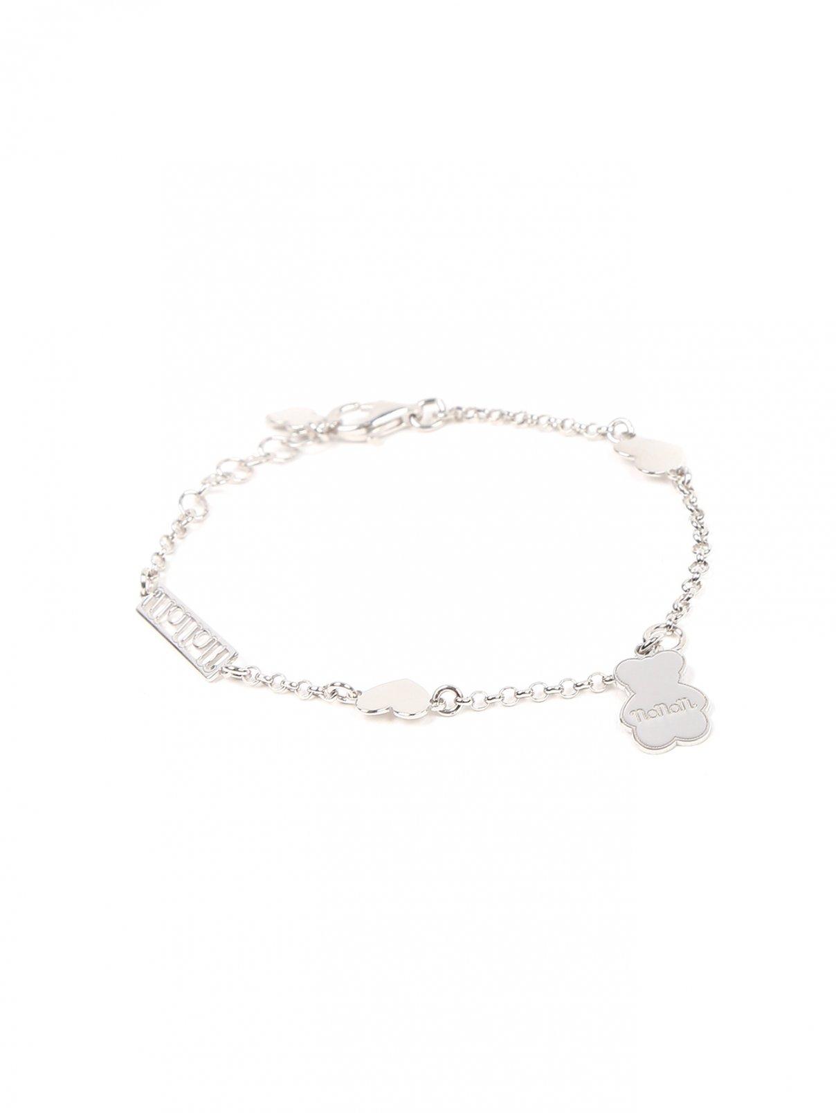 Браслет-цепочка из серебра с подвеской Nanan  –  Общий вид