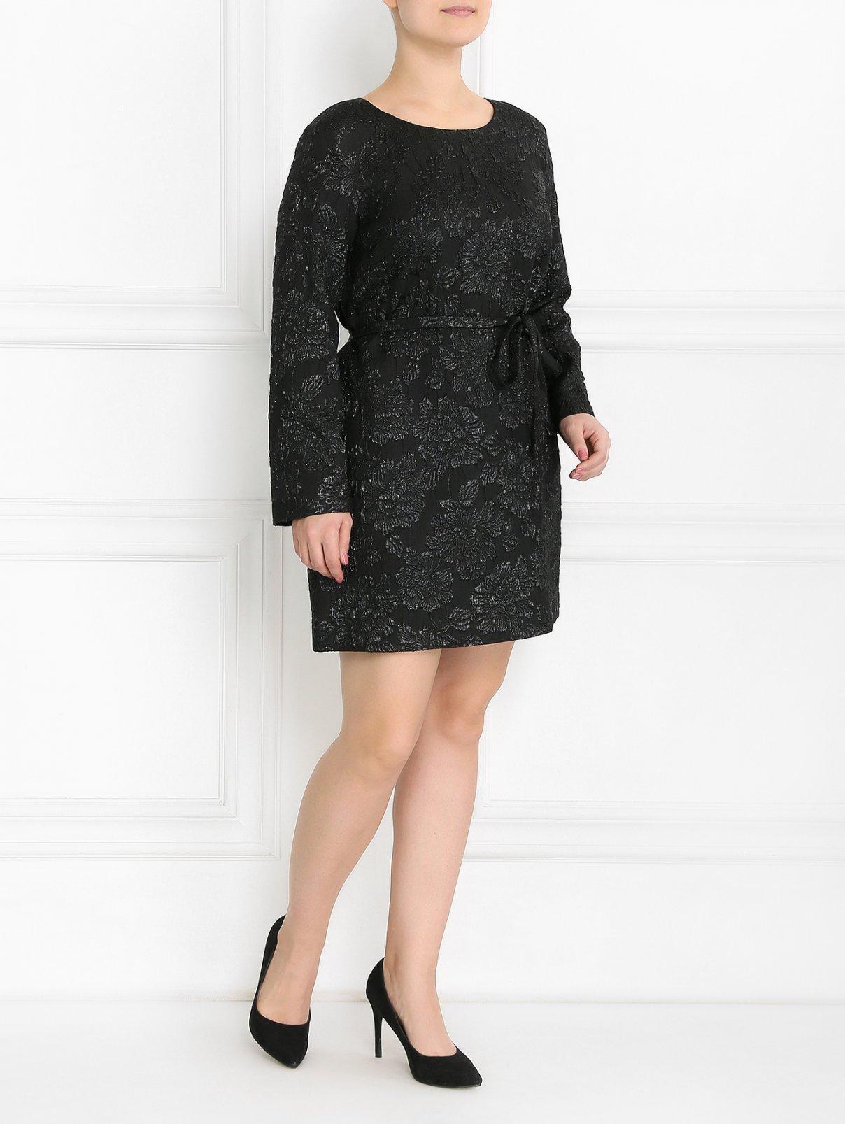 Платье-мини из жаккарда с узором Marina Rinaldi  –  Модель Общий вид