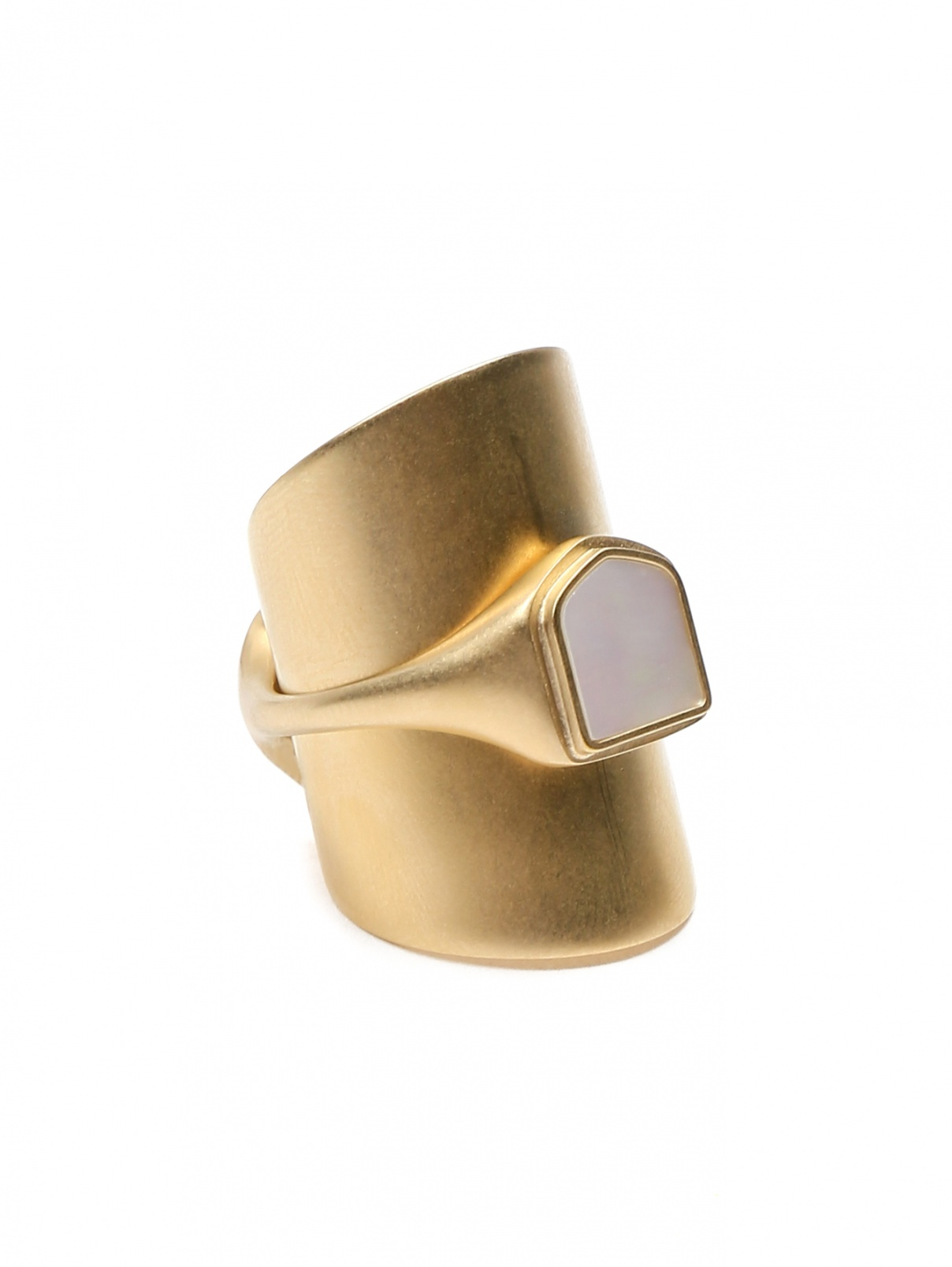 Кольцо из латуни с перламутром Maison Martin Margiela  –  Общий вид