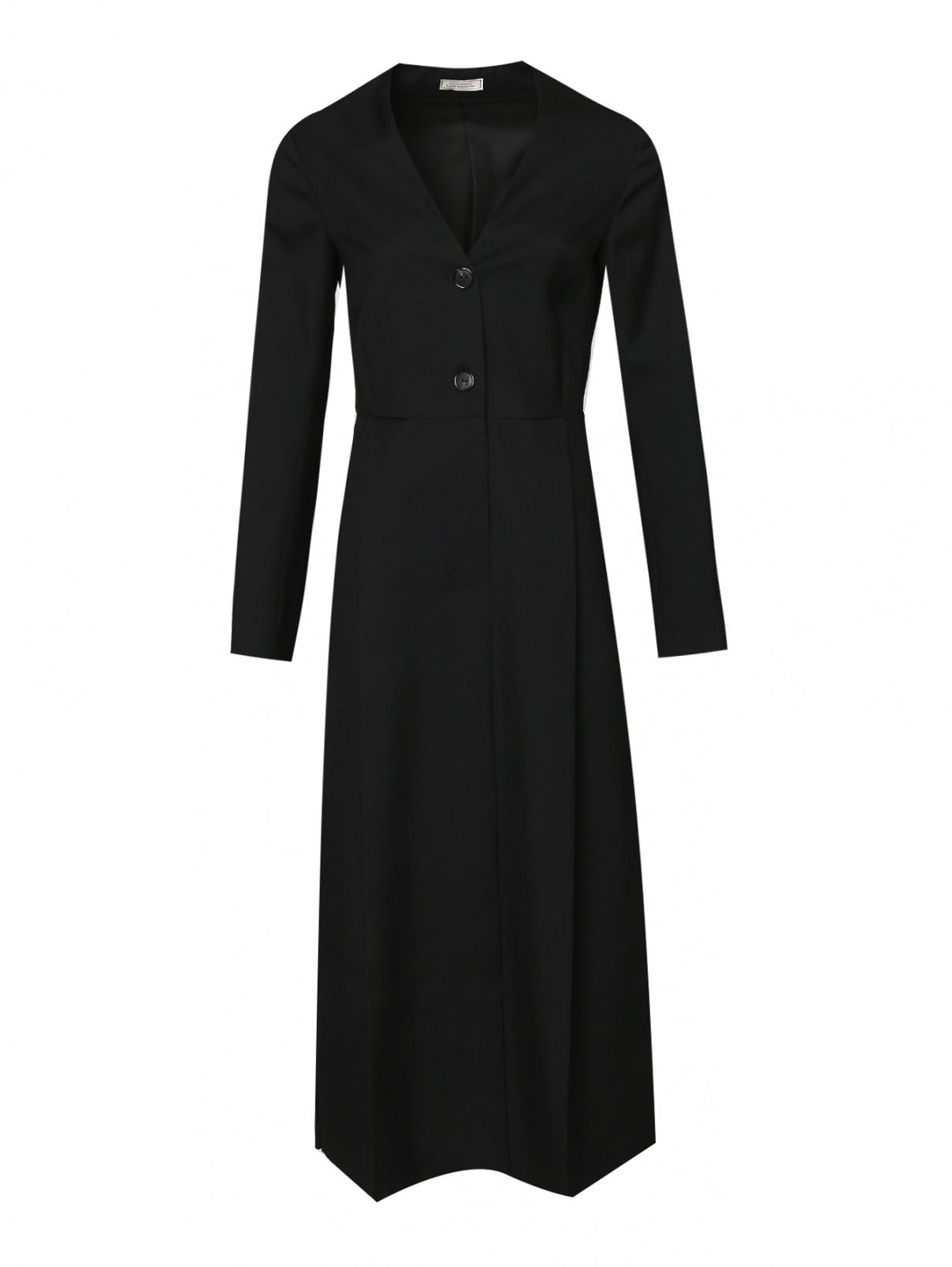 Платье из шерсти с V-образным вырезом Nina Ricci  –  Общий вид