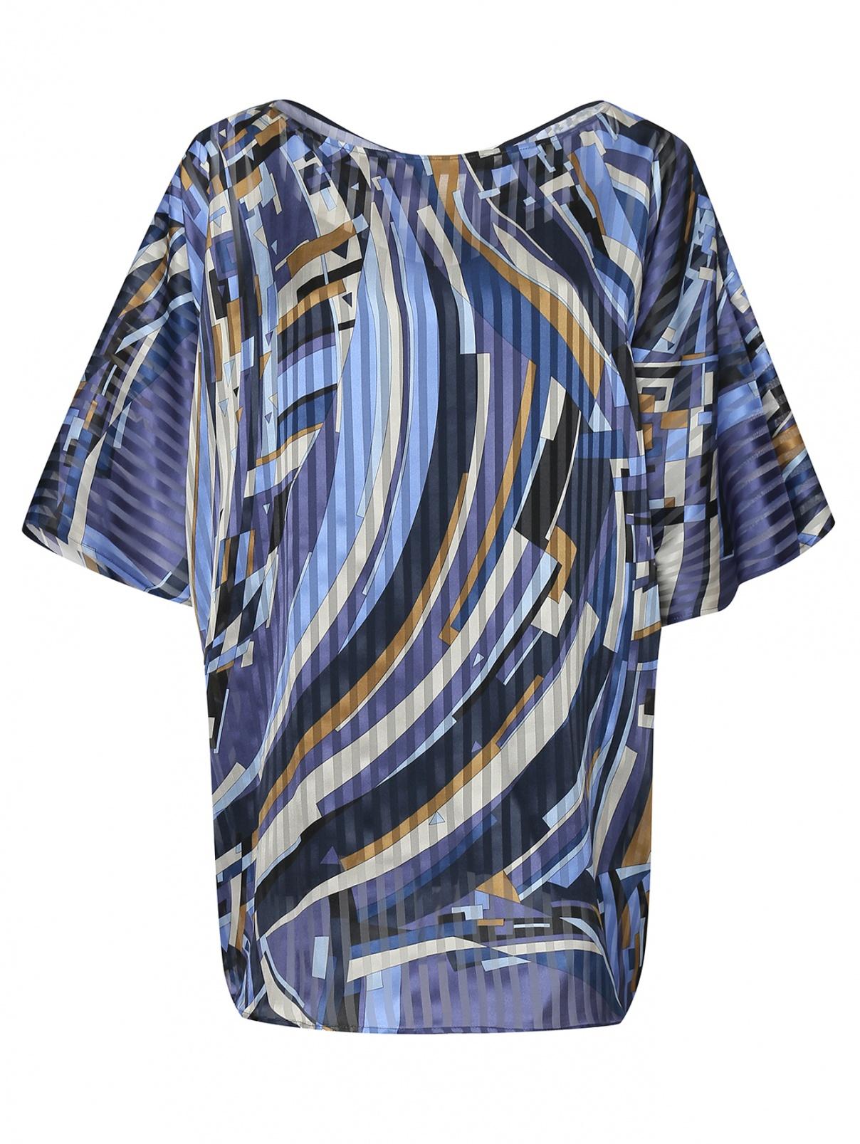 Блуза из шелка с принтом Marina Rinaldi  –  Общий вид