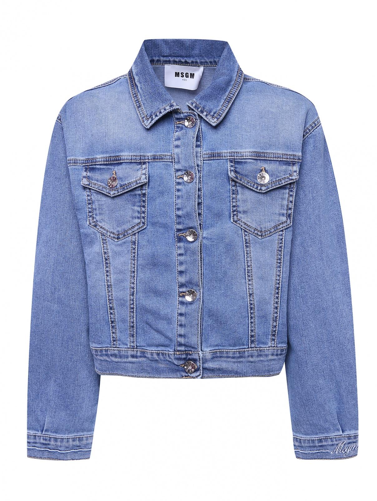 Джинсовая куртка с карманами MSGM  –  Общий вид