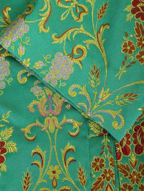 Легкое пальто с цветочным узором - Деталь