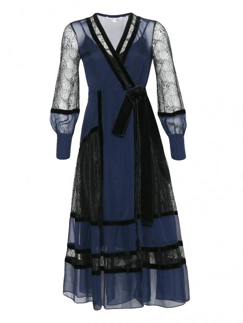 Платье-миди из шелка с кружевной отделкой Diane von Furstenberg - Общий вид
