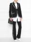 Блуза из хлопка с декором стразами на воротнике N21  –  МодельОбщийВид