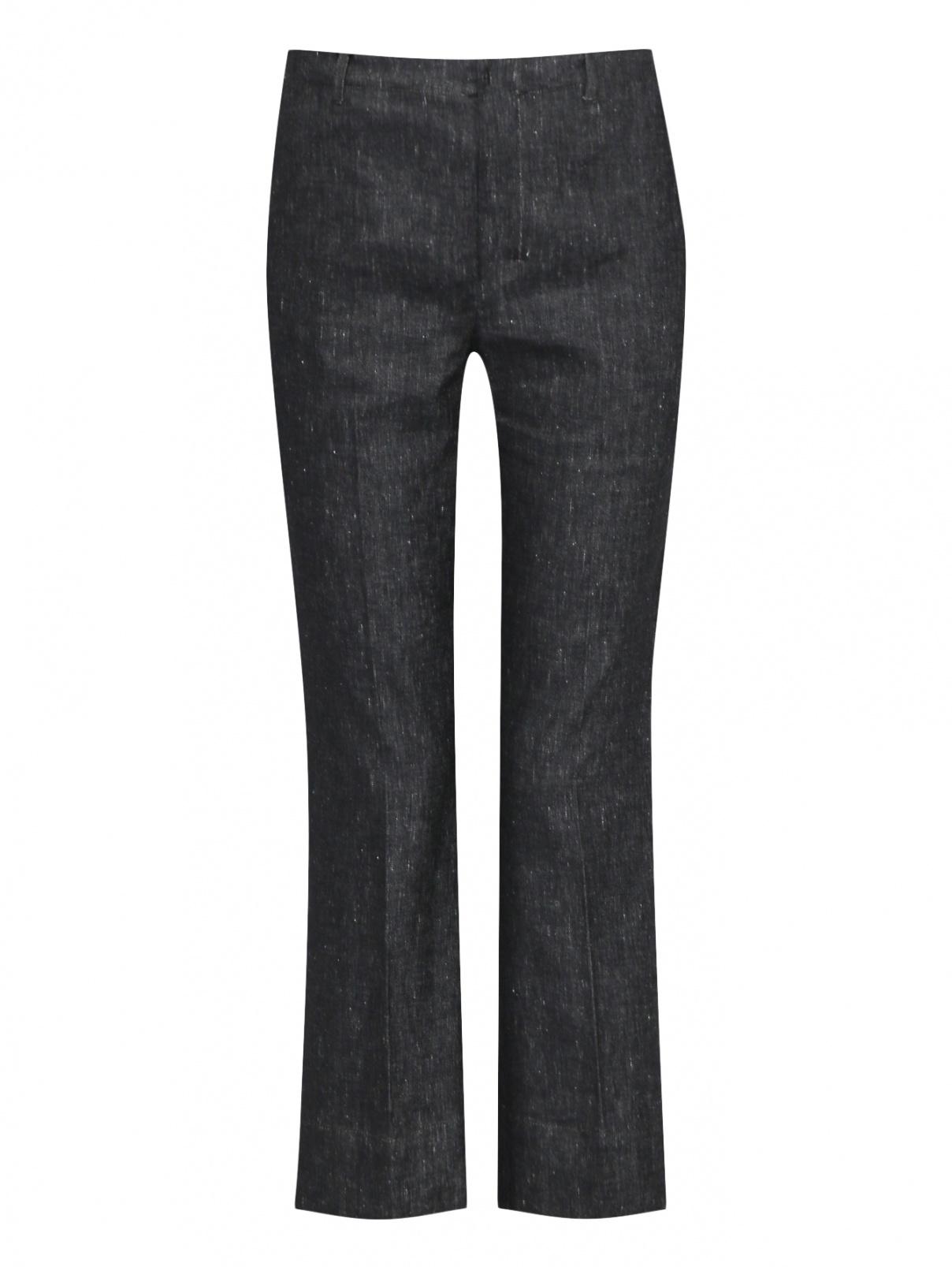 Укороченные брюки из хлопка и льна Max Mara  –  Общий вид