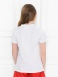 Хлопковая футболка с вышивкой Alberta Ferretti  –  МодельВерхНиз1