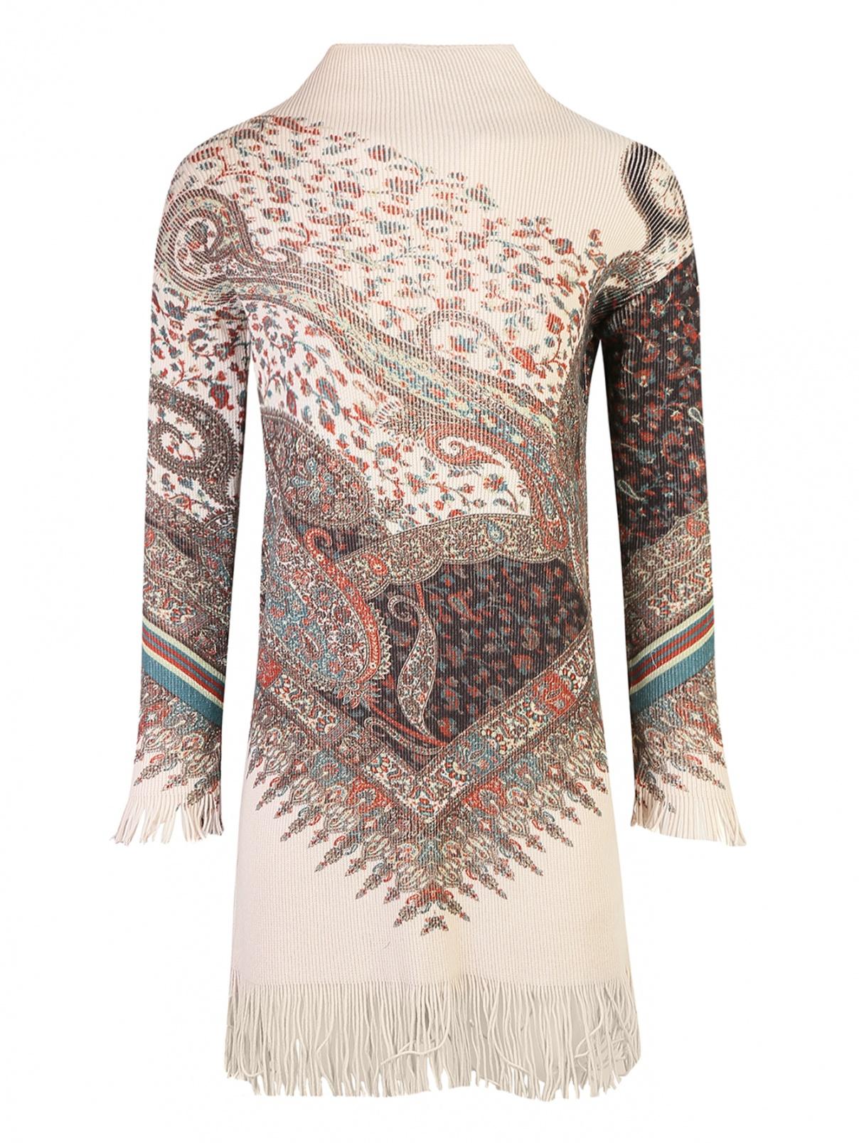 Платье трикотажное из шерсти и кашемира Etro  –  Общий вид