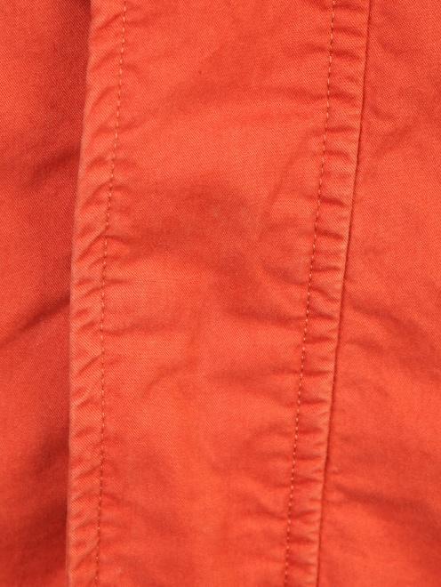 Куртка на молнии с накладными карманами  - Деталь