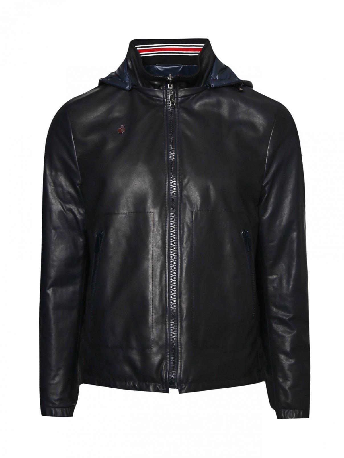 Куртка из кожи на молнии с капюшоном Bosco Fresh  –  Общий вид
