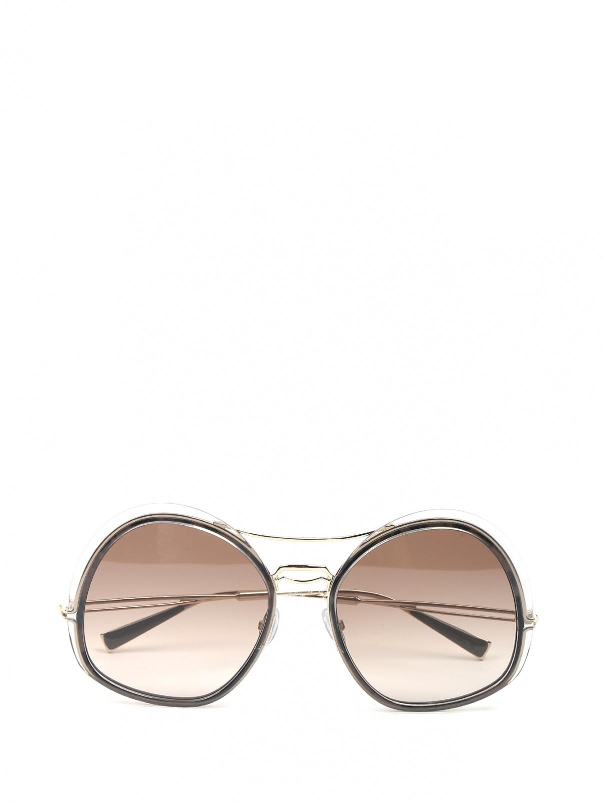 Очки солнцезащитные из пластика и металла Max Mara  –  Общий вид