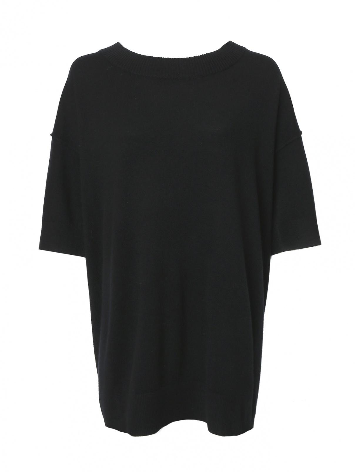 Платье-мини из шерсти и кашемира с короткими рукавами Dorothee Schumacher  –  Общий вид