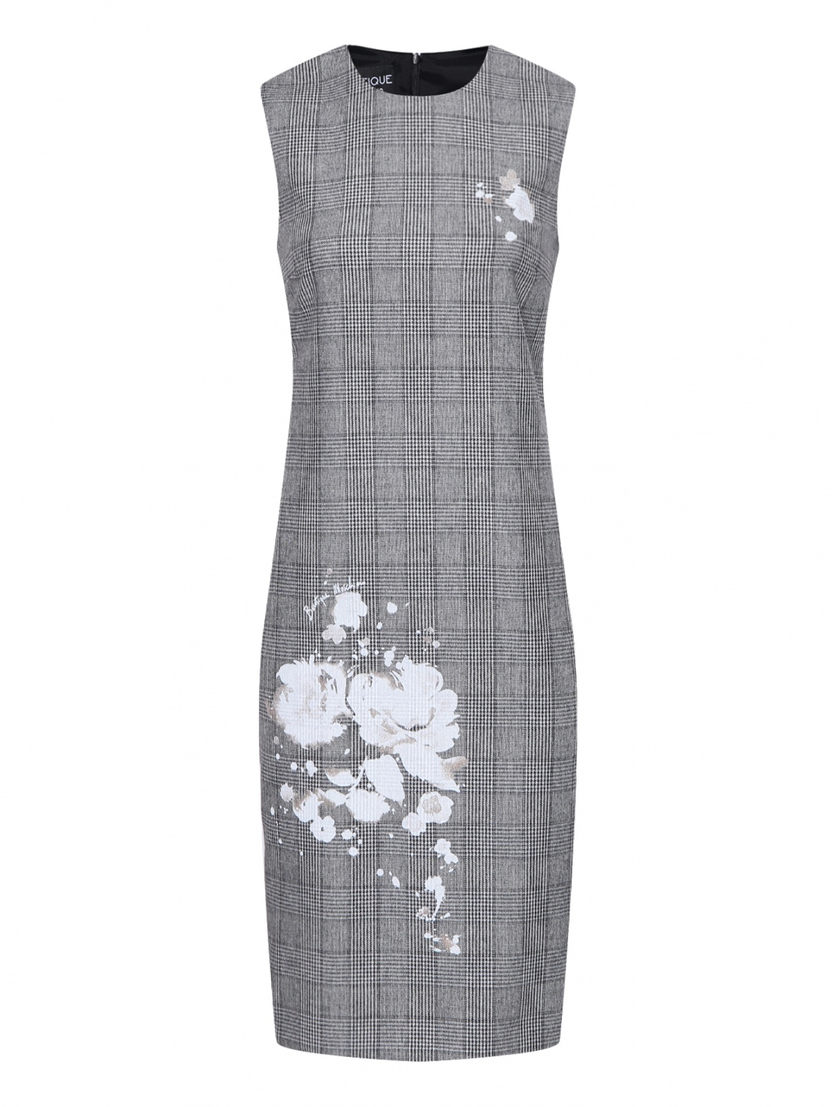 Платье-футляр в клетку Moschino  –  Общий вид