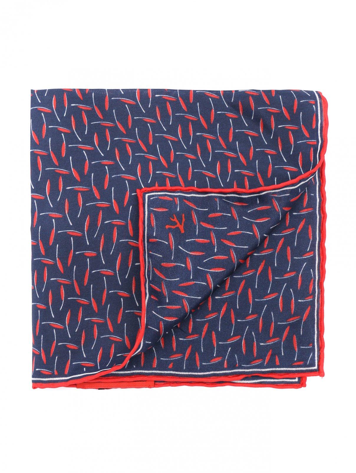 Платок шелковый с узором Isaia  –  Общий вид