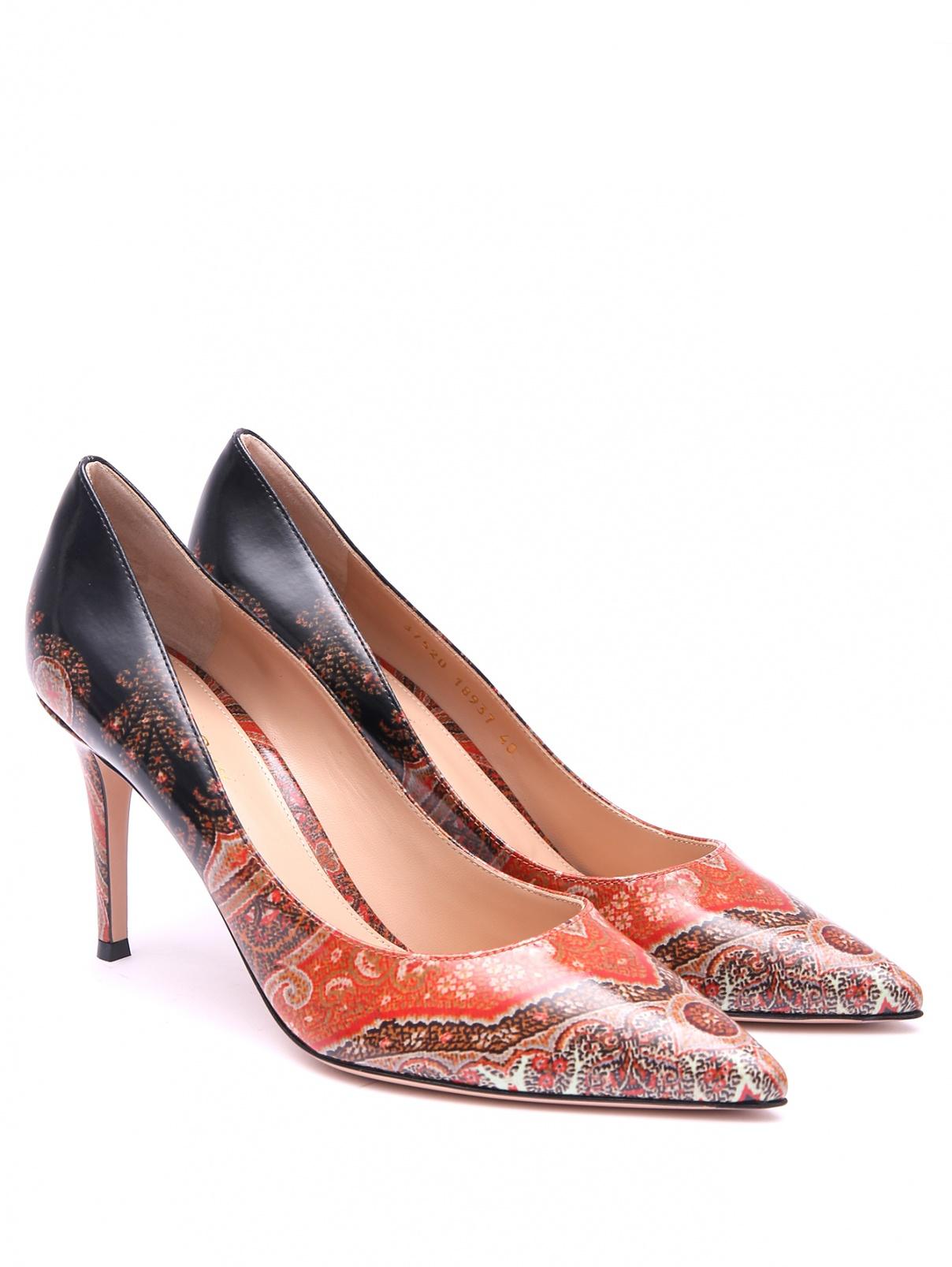 Туфли с узором пейсли на высоком каблуке Etro  –  Общий вид