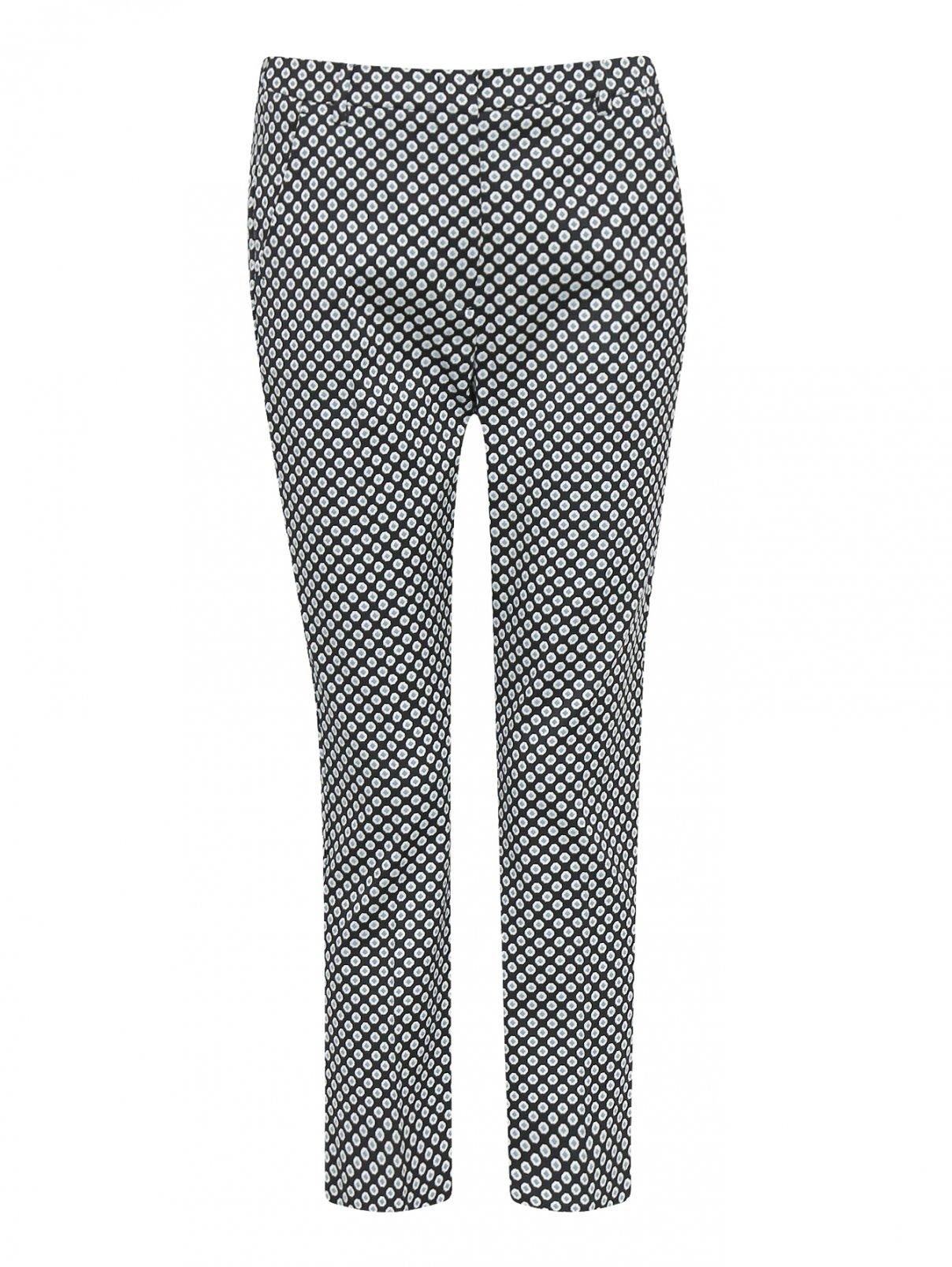 Укороченные брюки с узором Weekend Max Mara  –  Общий вид