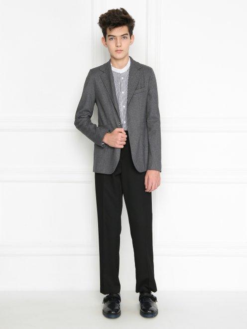 Пиджак из шерсти однобортный - Общий вид