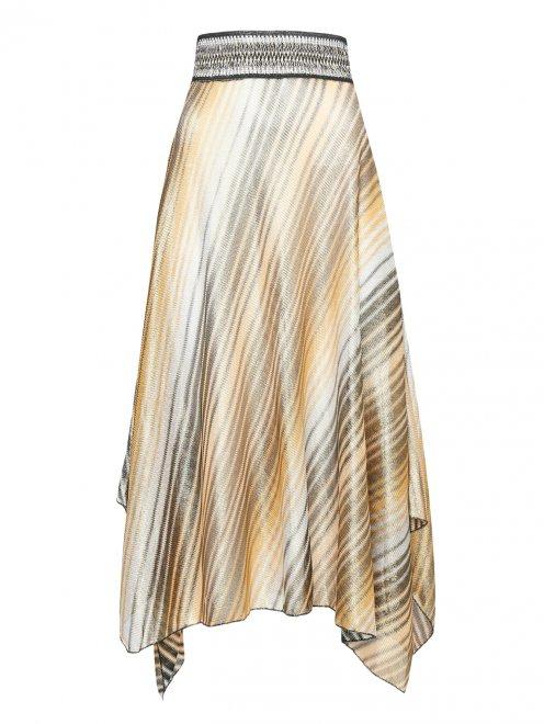 Пляжная юбка с узором полоска - Общий вид