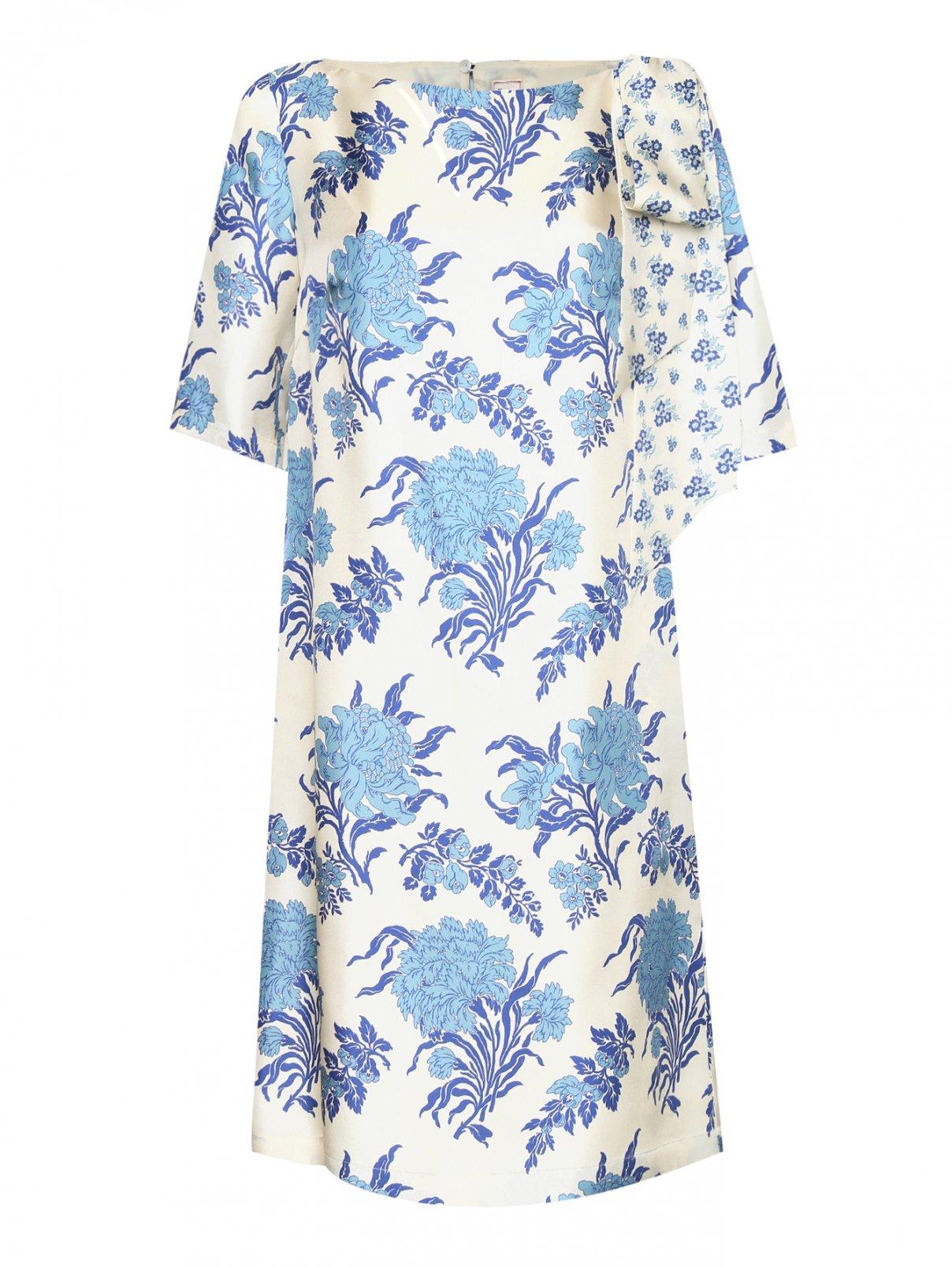 Платье из шелка свободного кроя с узором Antonio Marras  –  Общий вид