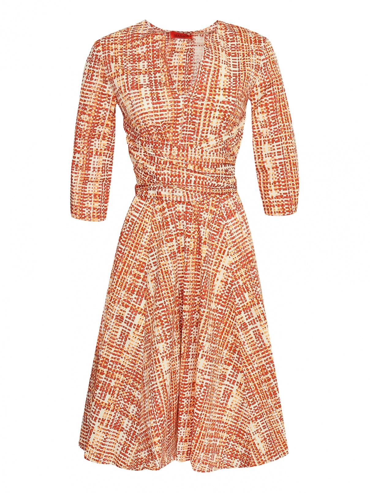 Платье из хлопка с узором Max&Co  –  Общий вид