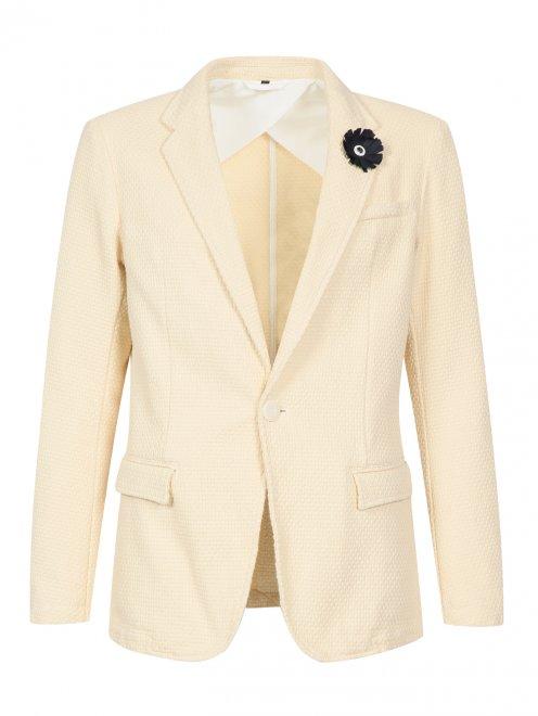 Пиджак из фактурного хлопка  - Общий вид