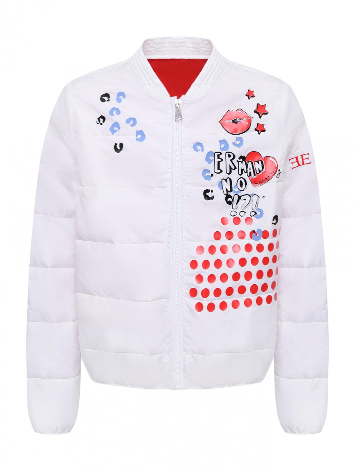 Облегченная куртка с принтом Ermanno Scervino Junior  –  Общий вид