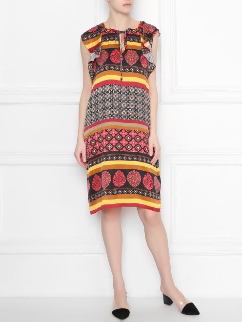 Платье из вискозы с узором DEHA - Общий вид