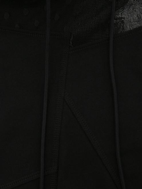 Толстовка с полупрозрачной вставкой - Деталь1