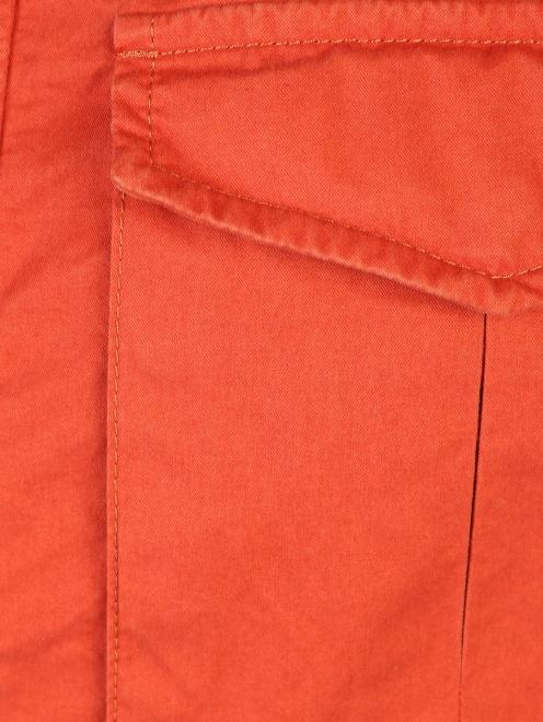 Куртка на молнии с накладными карманами  - Деталь1