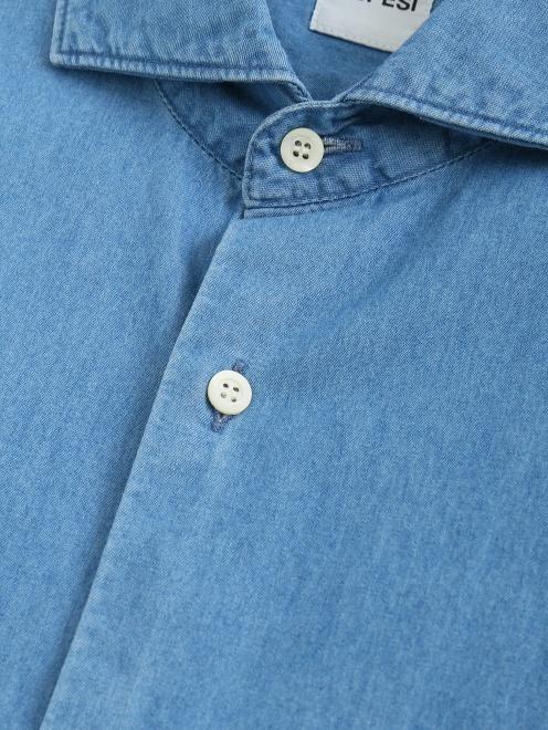 Рубашка из денима с нагрудным карманом  - Деталь