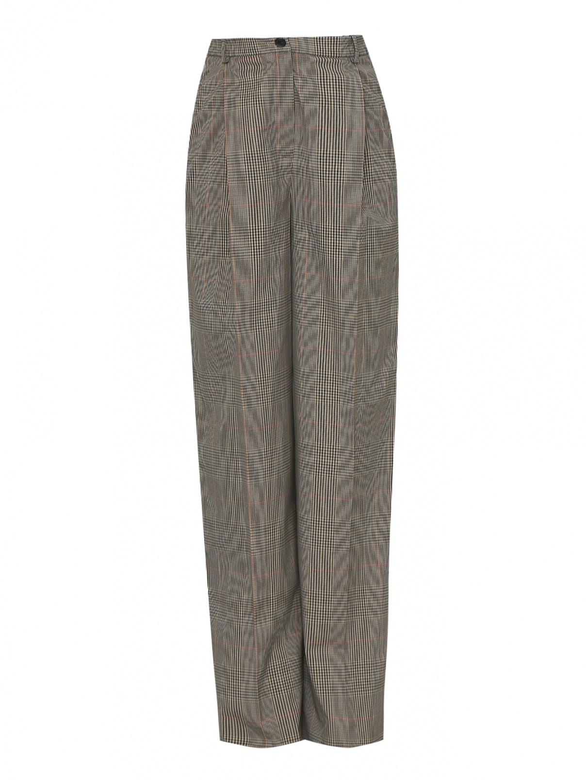 Широкие брюки с узором клетка Nina Ricci  –  Общий вид