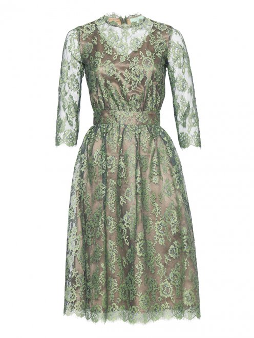 Платье-миди из кружева с рукавами 3/4 Akhmadullina Dreams - Общий вид