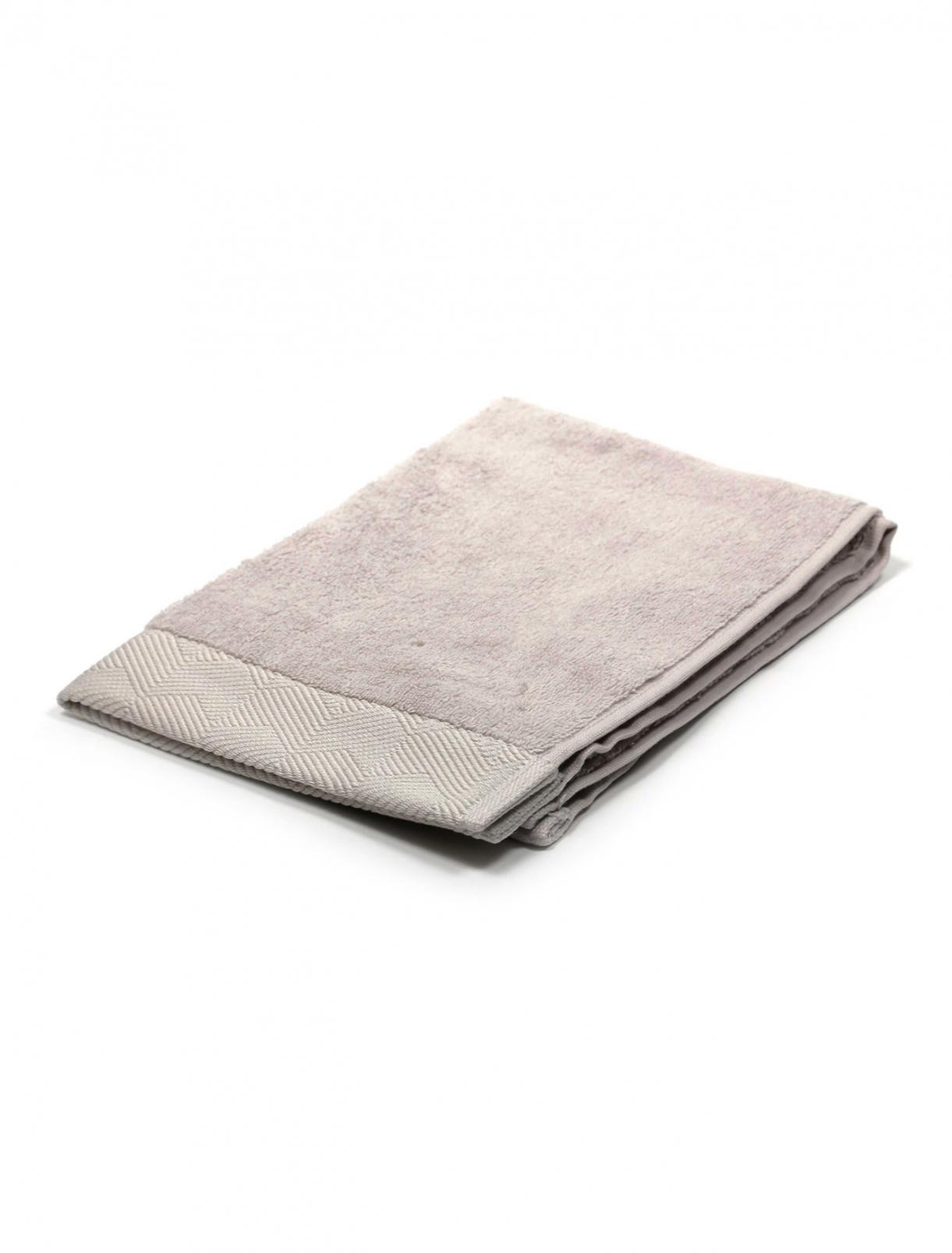 Полотенце из хлопковой махровой ткани с фактурным орнаментом по канту 40 x 60 Frette  –  Общий вид