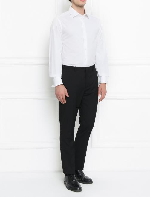 Сорочка под запонки из хлопка - Общий вид